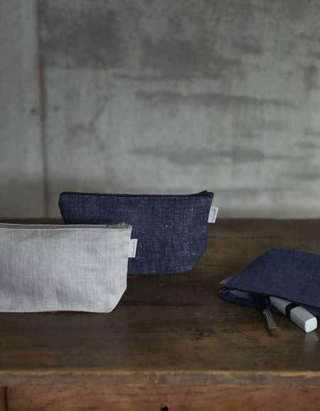 Romy Pouch - Denim White