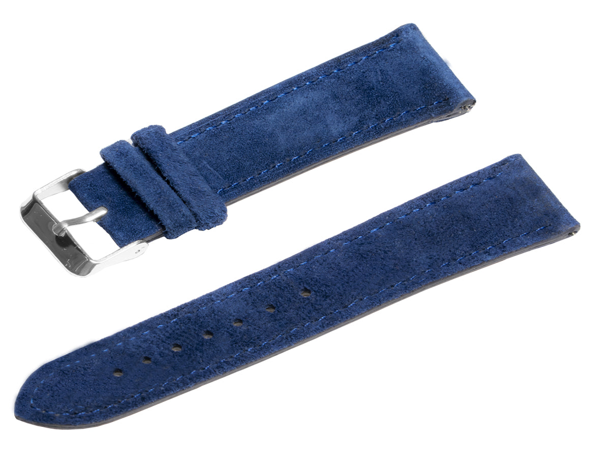 raymond and pearl swiss watches blue suede watch strap