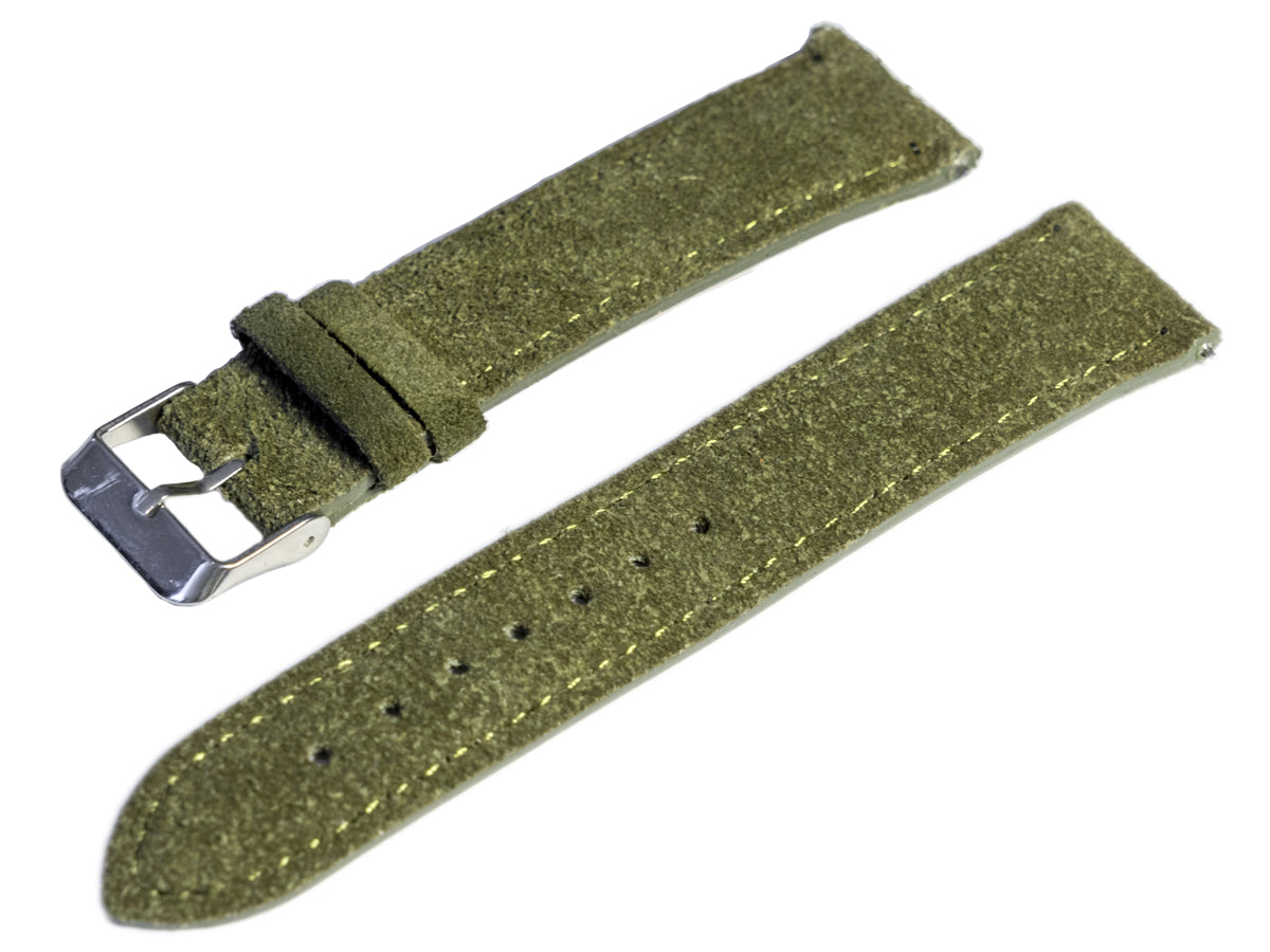 raymond and pearl swiss watches green suede watch strap