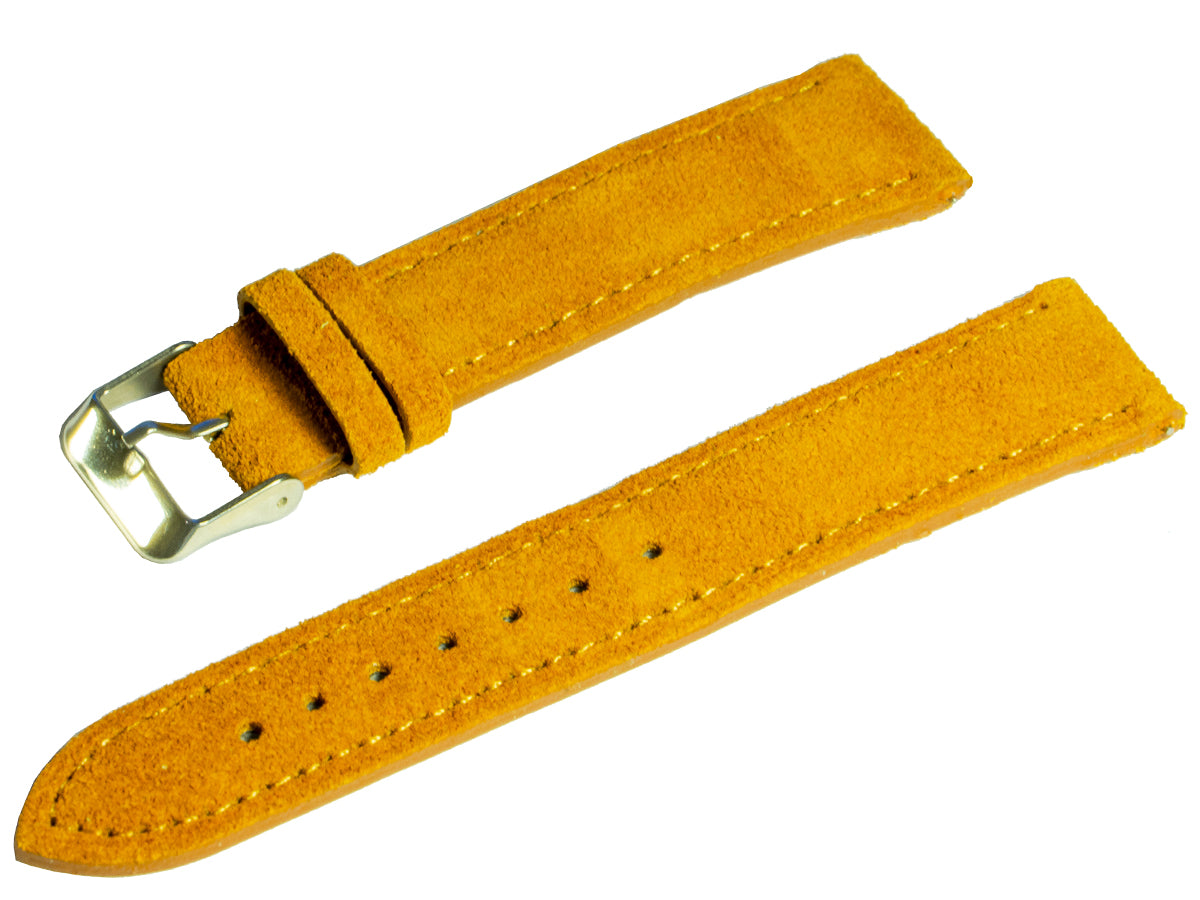 raymond and pearl swiss watches light brown suede watch strap