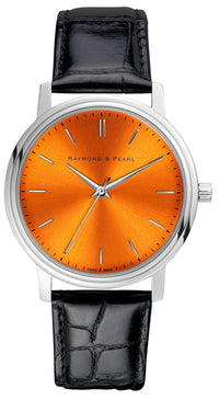raymond and pearl orange swiss watch