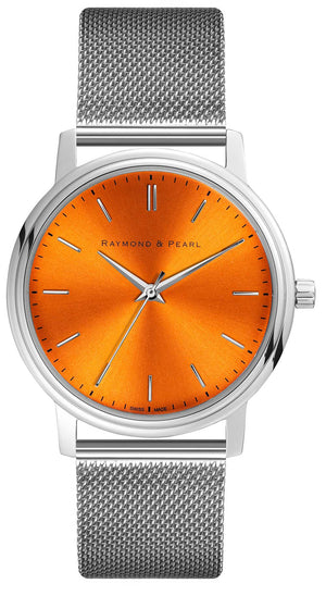 raymond and pearl swiss made orange
