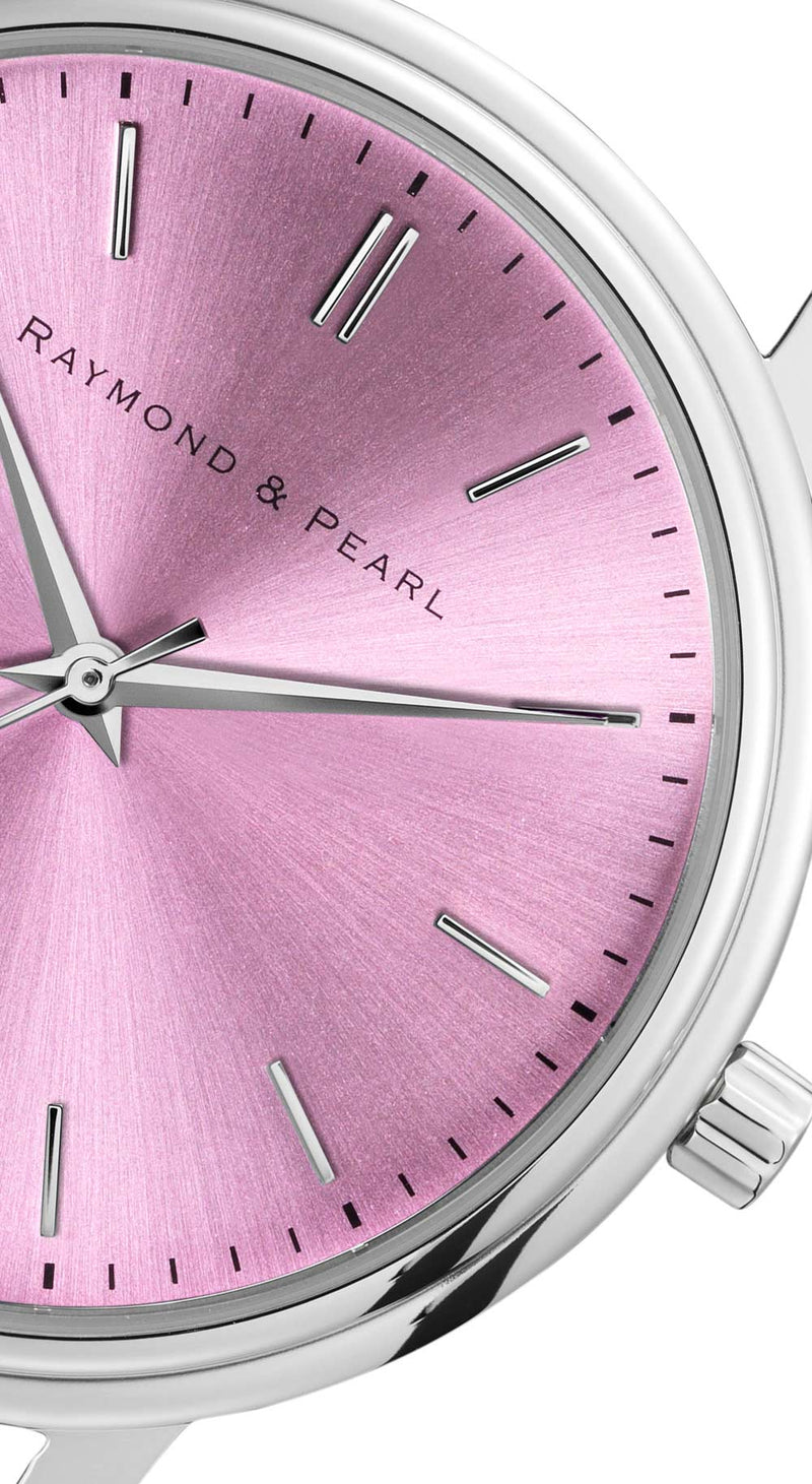 raymond and pearl swiss made pink