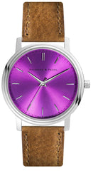 Intuition Purple - Brown Leather