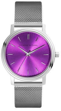 raymond and pearl swiss made purple