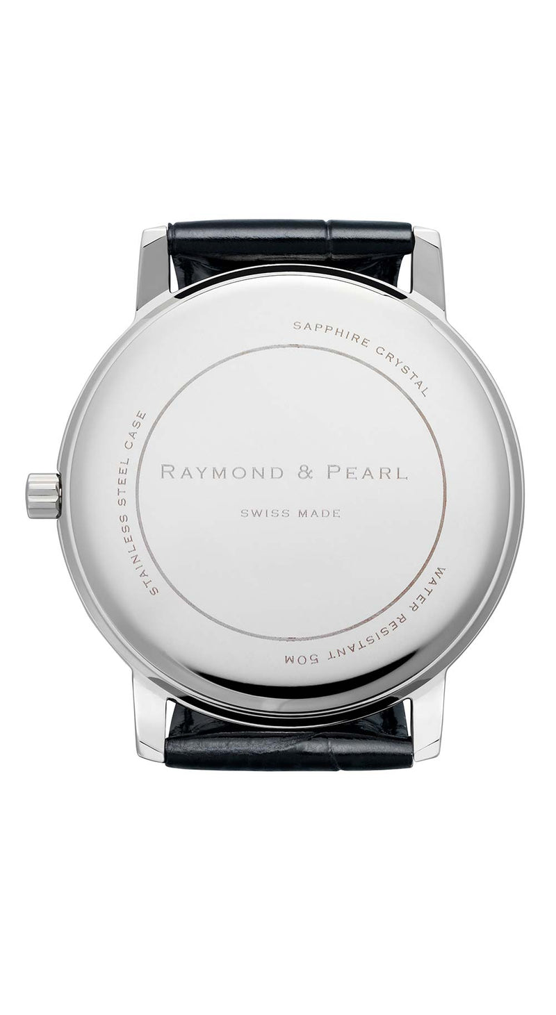 raymond and pearl red swiss watch