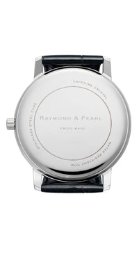 raymond and pearl silver swiss watch