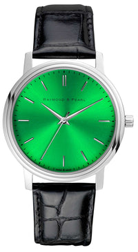 raymond and pearl green swiss watch