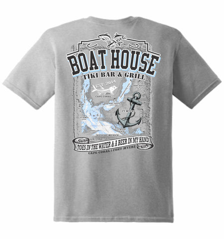 Boat House Map Tee