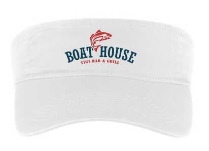 Boat House Visor: White