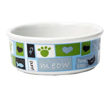 Meow Flair Cat Bowl - Blue
