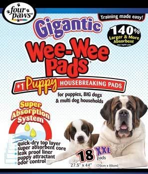 Four Paws Gigantic Wee Wee Pads 27.5