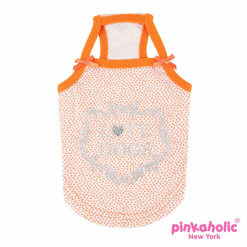 Aura Dog Tank by Pinkaholic - Orange