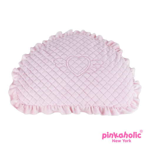 Angel Cushion Dog Bed by Pinkaholic - Indian Pink