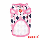 Argyle Hooded Dog Shirt by Puppia - Pink