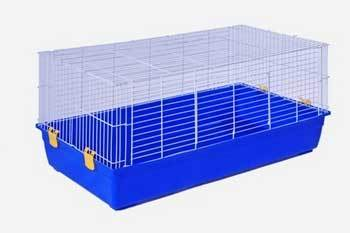 Prevue 525 Select Tub Cage White/Blue 2ct