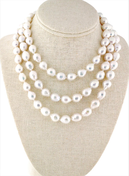 Double / Triple Baroque Pearl Stand Necklace
