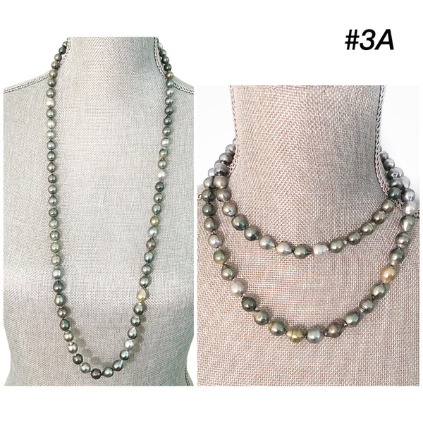Baroque Tahitian Pearl Long Strand Necklace