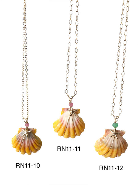SALE Beachcomber Design Sunrise Shell Necklace