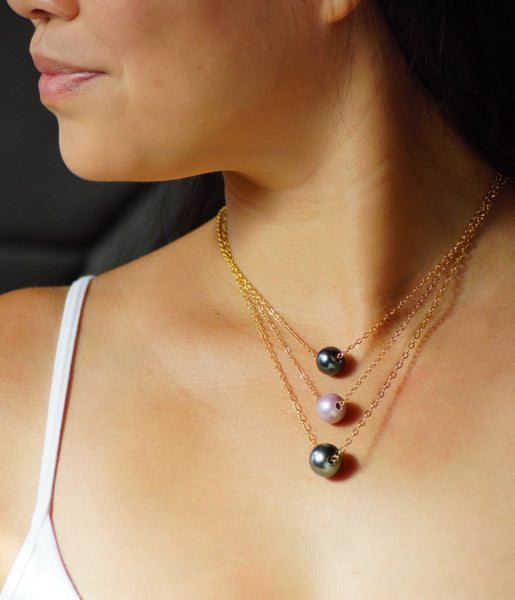 Beachcomber Design Tahitian Pearl Necklaces
