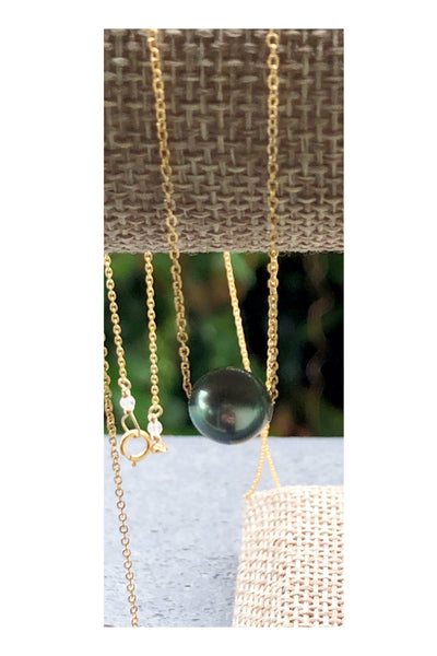 Round Flawless Tahitian and Edison Pearl Necklace