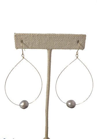 Vea Teardrop Pearl Earrings