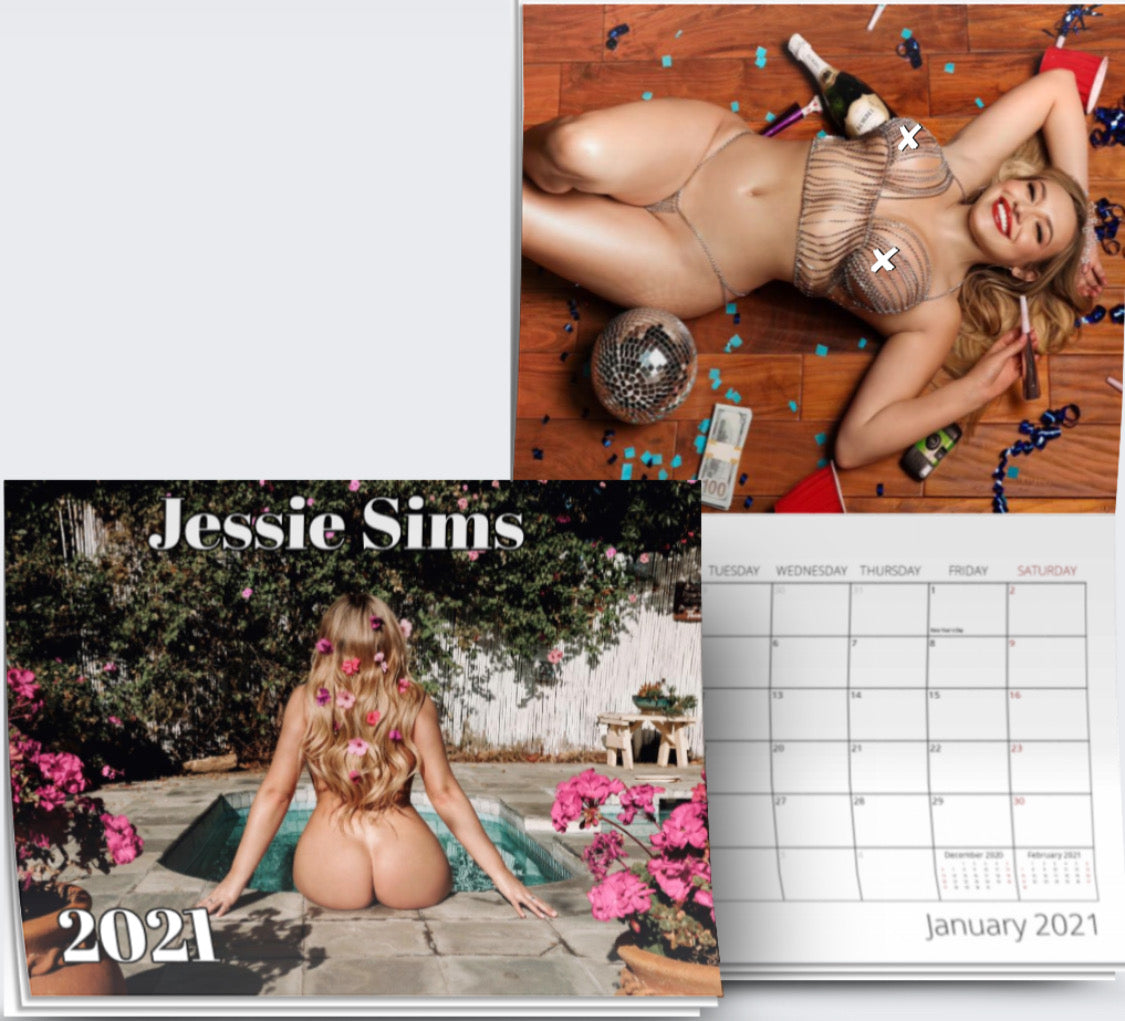 Calendar signed by Jessie Sims (Rated R)