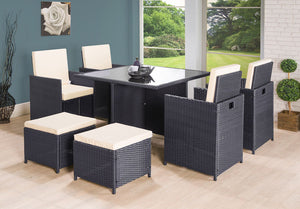RALPH CUBE RATTAN GARDEN FURNITURE SET 8 SEATER