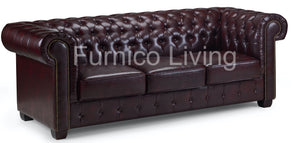 Leather Chesterfield Sofa Suite