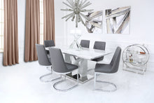 Grey Marble Effect Dining Set with 6 Chairs