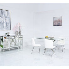 Denver Dining Set with 4 White Chairs