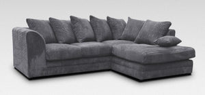 Jumbo Grey Cord Sofa Suite