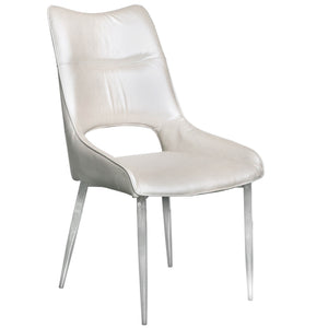 Zara White PU Leather Dining Chair
