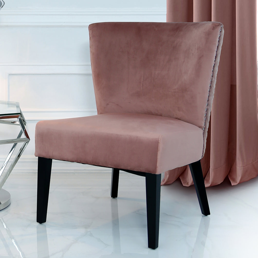 Curved Back Chair (Available in Grey & Pink)