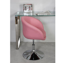 Madison Pink Faux Leather Swivel Chair
