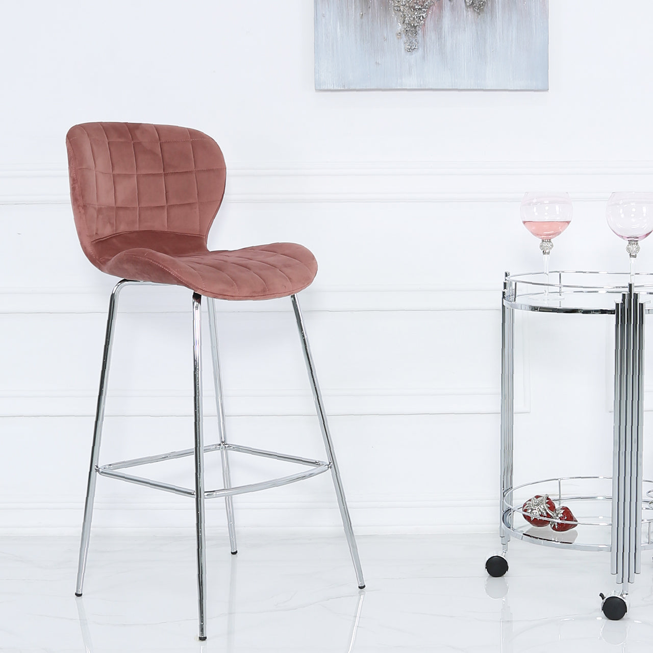 Rose Curve Bar Stool