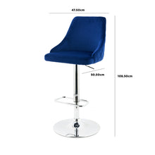 Winchester Blue Velvet Bar Stool
