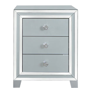 The Halo 3 Drawer Mirror Bed Side Cabinet
