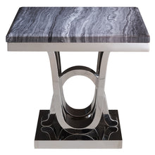 Pluto Grey & Chrome End Table