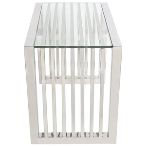 Jeannine Chrome End Table