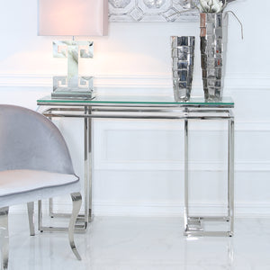 Colton Glass & Stainless Steel Display Unit