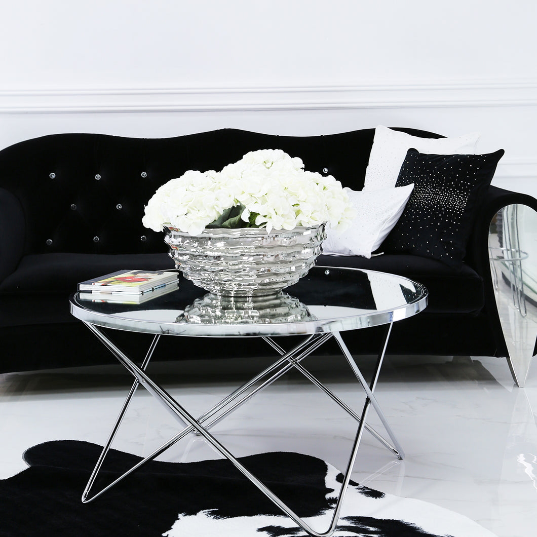 Chrome And Mirror Coffee Table