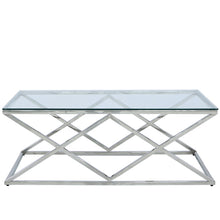 Claudette Stainless Steel Coffee Table