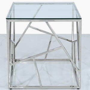Contemporary  Metal End Table (Available in Gold & Silver)