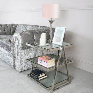 luxe 3 Tier End Table