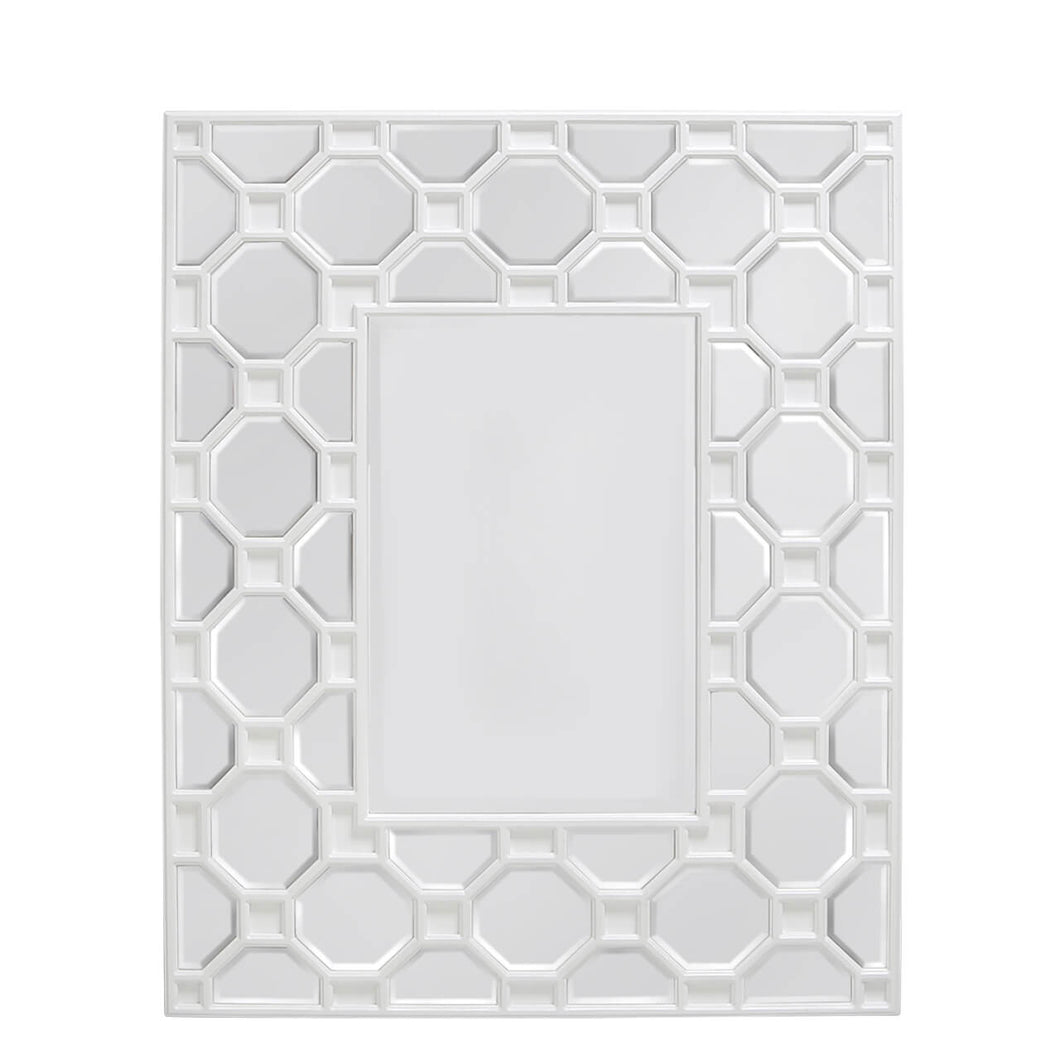 Geometric Wood Wall Mirror