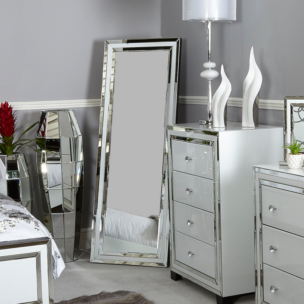 White Chelsea Floor Mirror
