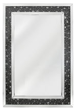 Black Mirror Rectangle  Wall Mirror