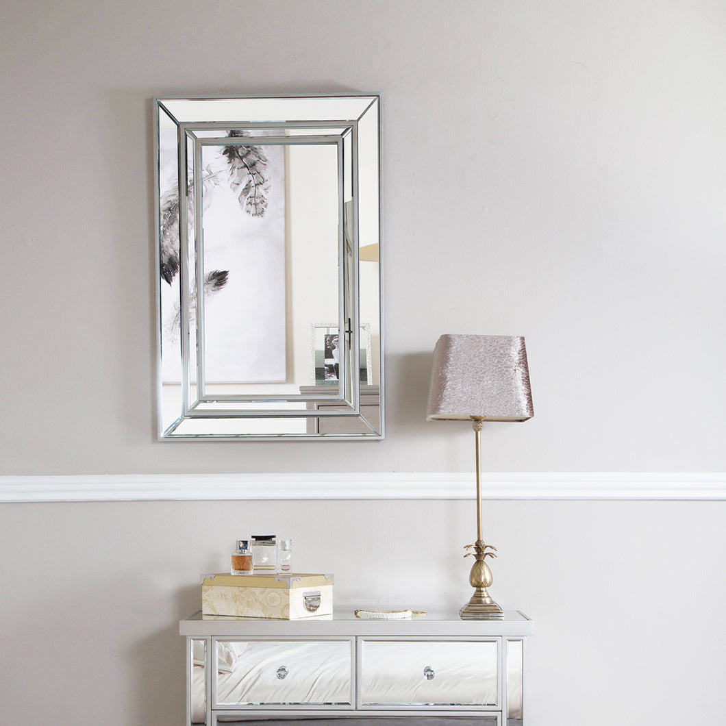 Argente  Silver Trim Wall Mirror