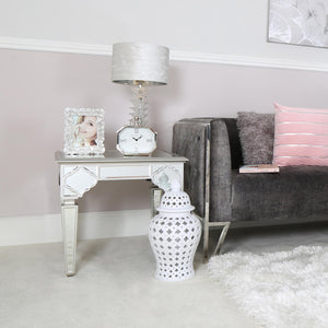 Casablanca Mirror End Table (Available in Silver & Gold)